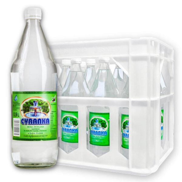 Woda Cyranka 1L gaz skrzynka