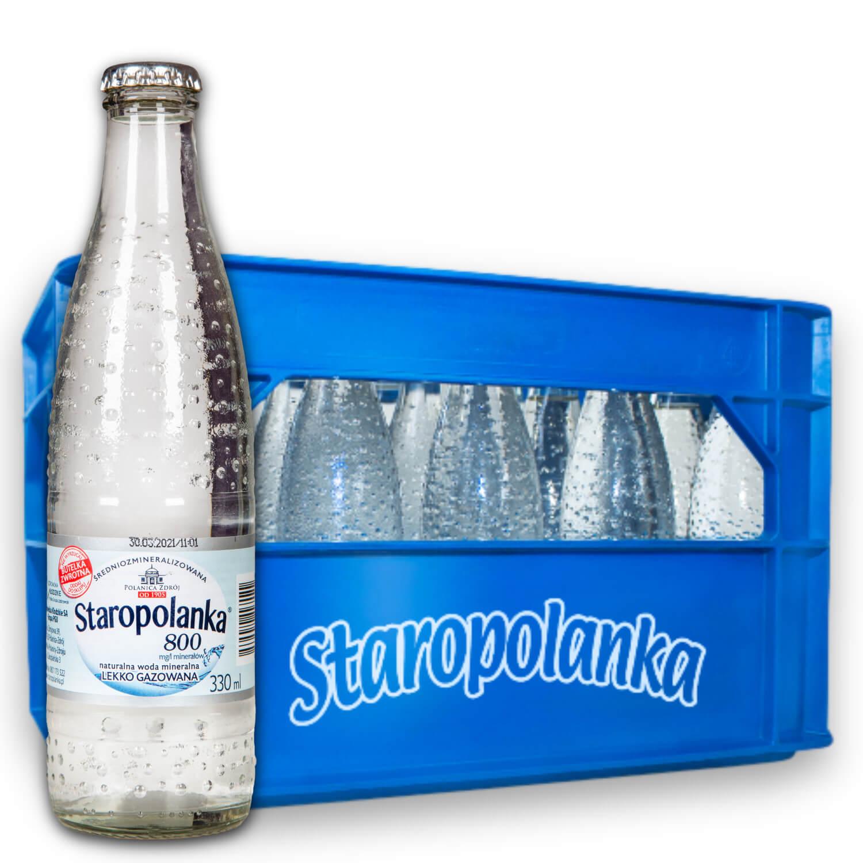 Woda Staropolanka 0,3L delikatnie gazowana skrzynka