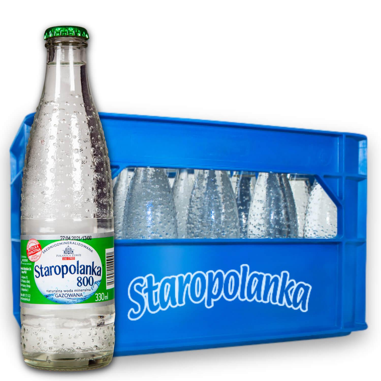 Woda Staropolanka 0,3L gazowana skrzynka